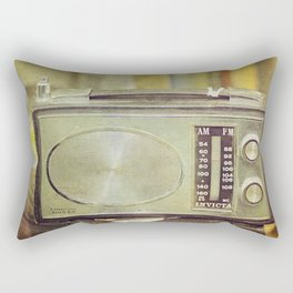 "Sundays with Grandma  - ""Analog zine"" Rectangular Pillow"