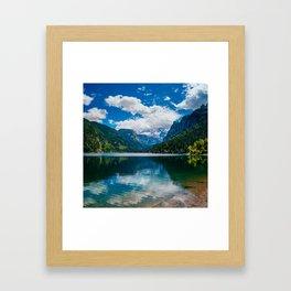 Mountain Valley Lake Framed Art Print
