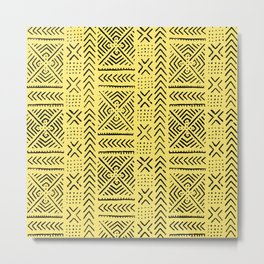 Line Mud Cloth // Yellow Metal Print
