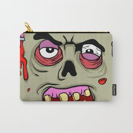 Cartoon Zombie face Carry-All Pouch