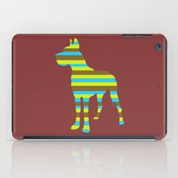 great dane iPad Cases featuring Great Dane Stripes by Crayle Vanest