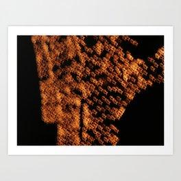 Tripping Through City Lights Art Print
