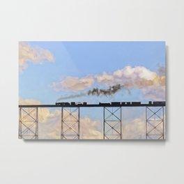 Choo Choo in the Clouds Metal Print