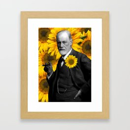 Freud n Sunflowers Framed Art Print