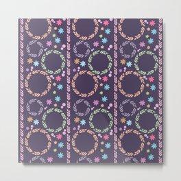 Wreaths - Purple Metal Print