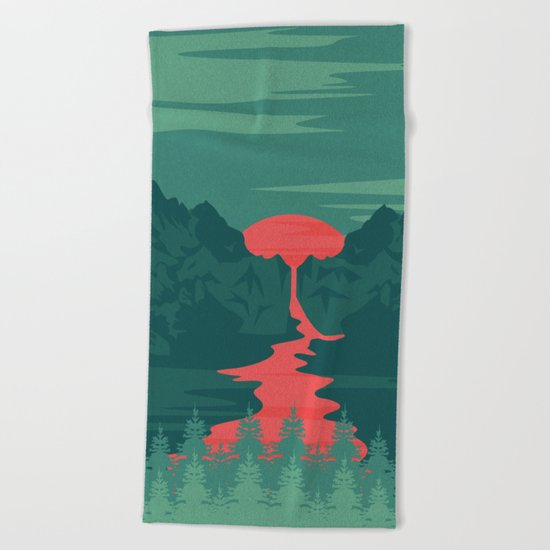 The Red River Beach Towel