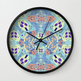 Abstract Vibrant Pastel Quilt 1 Wall Clock