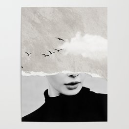 minimal collage /silence Poster