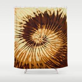 Brown Chocolate Tie-Dye Shower Curtain