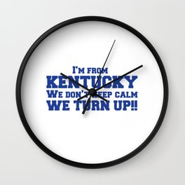 I'm from Kentucky Wall Clock