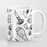 witchcraft Mugs featuring WITCHCRAFT by Fokshe