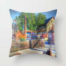 Western Yard Throw Pillow