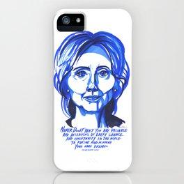 Hillary Rodham Clinton iPhone Case