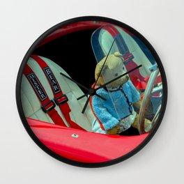 BEARY NICE CAR Wall Clock