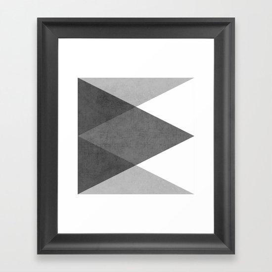 black and white triangles Framed Art Print