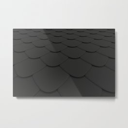 Pattern of black rounded roof tiles Metal Print
