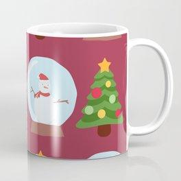 Winter/Christmas - Snow Crystals And Christmas Trees Coffee Mug