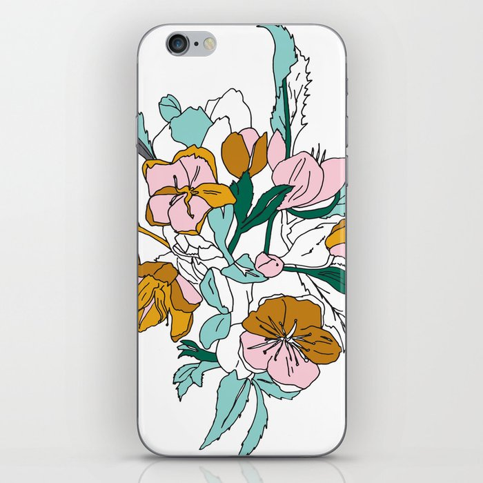 Floral Ink - Winter Roses iPhone Skin
