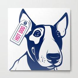 Bull Terrier Hot Dog edition Metal Print