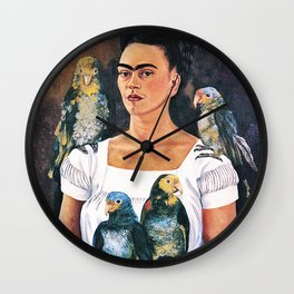 Frida Kahlo Birds Wall Clock