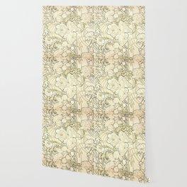 "Alphonse Mucha ""Peonies"" Wallpaper"
