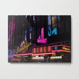 New York Neon Metal Print