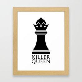 Killer Queen Black Framed Art Print