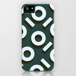 Teal Keyhole Pattern I iPhone Case