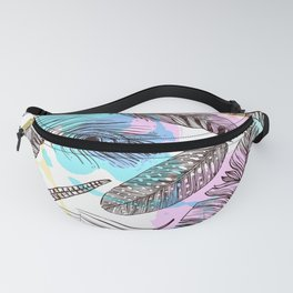 Beautiful Watercolor Feathers Fanny Pack