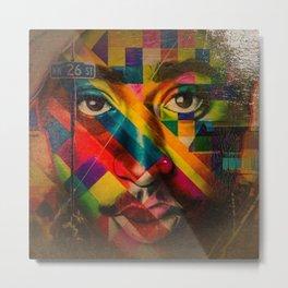 African American Oil Painting 26th Street Miami, Florida Mural 'Legends of Hip Hop' Metal Print