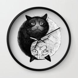 Grumpy Yin Yang Wall Clock