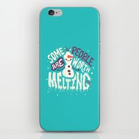 risa rodil iPhone & iPod Skins featuring Worth melting for by Risa Rodil