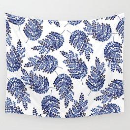 Cobalt Fern Wall Tapestry