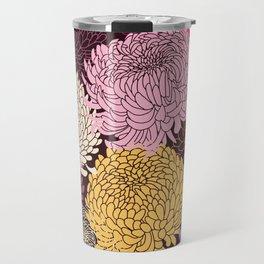 Autumn garden of chrysanthemums Travel Mug