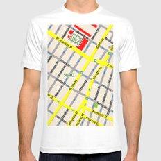 NEW YORK map design - SOHO area MEDIUM White Mens Fitted Tee
