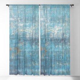 Aqua Cove Sheer Curtain