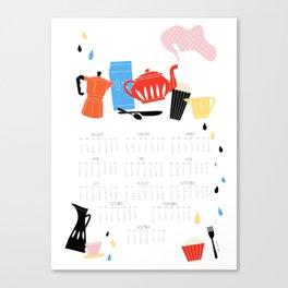 Calendar 2014 Canvas Print