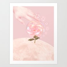 Moon Rose Art Print
