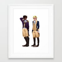 wtnv Framed Art Prints featuring Cecil and Carlos by Dorothy Wonderland