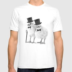 Not CHEEP (Version 2) MEDIUM Mens Fitted Tee White