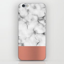 Marble & copper iPhone Skin