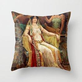 """""""Queen of Saba"""" by Robert Hughes Throw Pillow"""