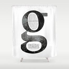 O.G. Garamond Shower Curtain