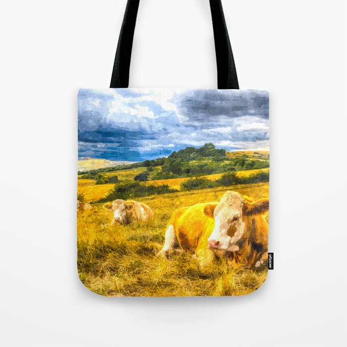 Resting Heifers Art Tote Bag