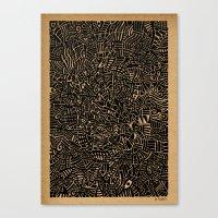 arya Canvas Prints featuring - 1986 - by Magdalla Del Fresto