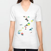 triangles V-neck T-shirts featuring Triangles by Cassia Beck