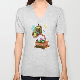 NATURE GRAMOPHONE Unisex V-Neck