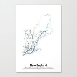 Highways of the USA – New England Canvas Print