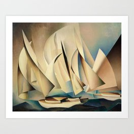 Pertaining to Sailing Yachts and Yachting by Charles Sheeler Art Print