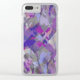 Moon Beam Abstract Clear iPhone Case